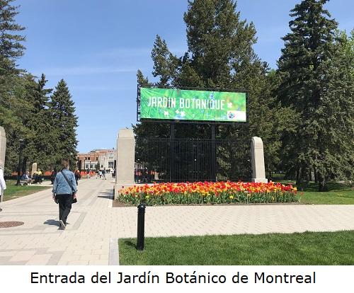 Entrada del Jardín Botánico de Montreal